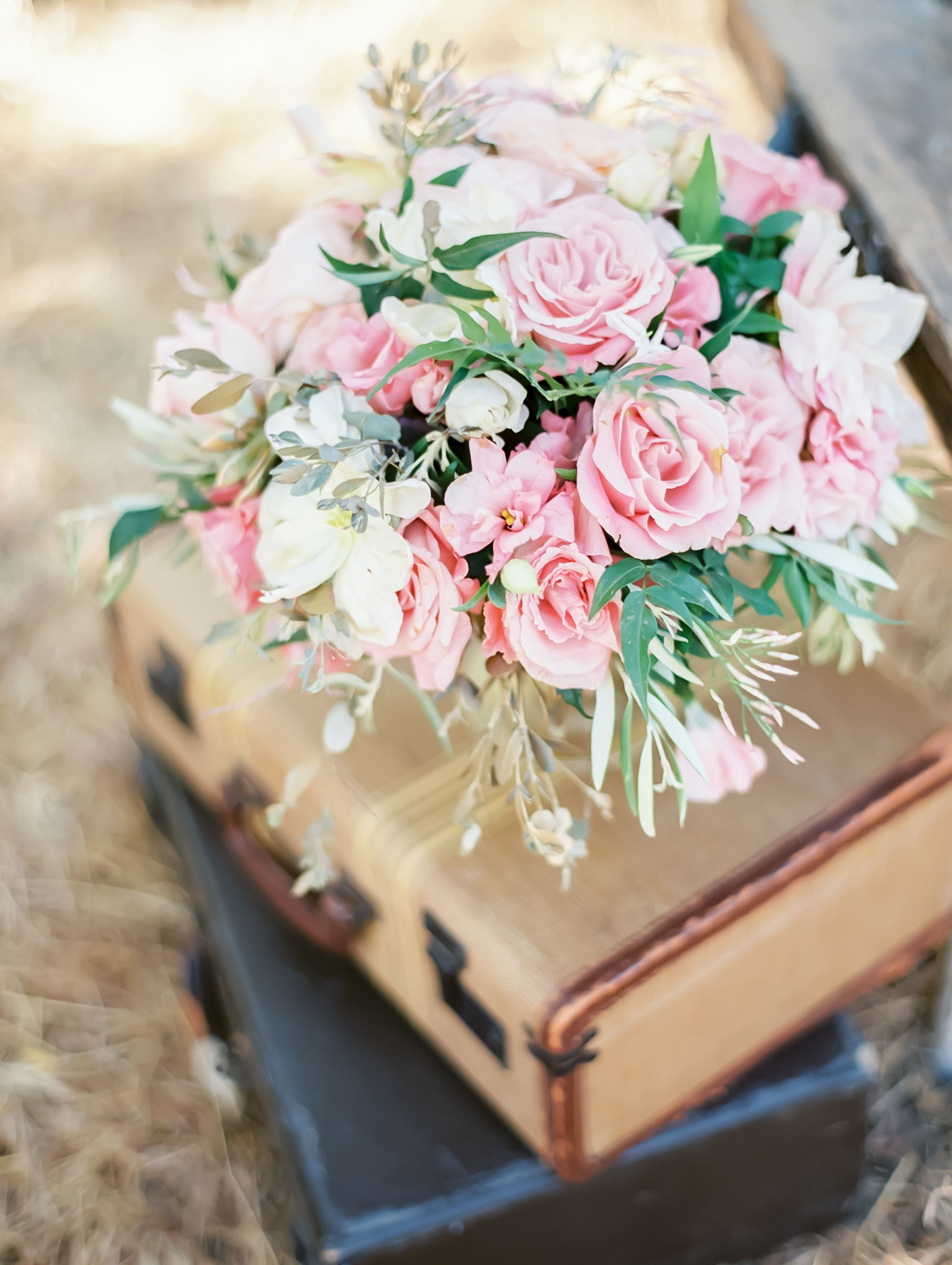 #Pink Roses | Coco Tran Photography | On SMP - http://www.StyleMePretty.com/california-weddings/2014/01/06/french-bridal-boudoir/
