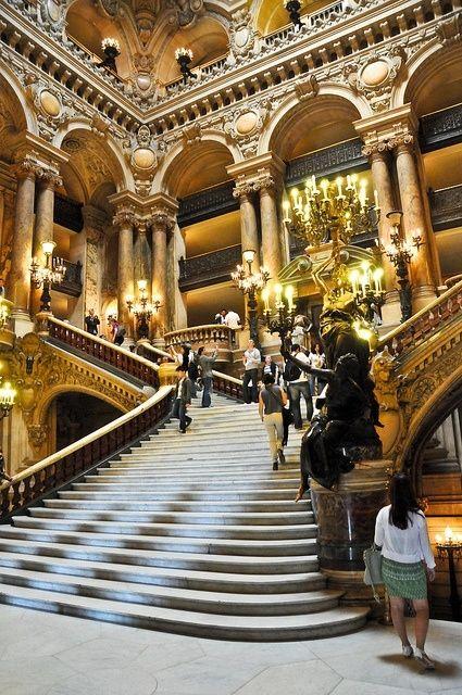 The Grand Staircase Palais Garnier Opera de Paris France visit http://www.reservationresources.com/