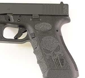 Black Punisher Grips - Glock parts, accessories, and custom Glock refinishing at Rockyourglock Store
