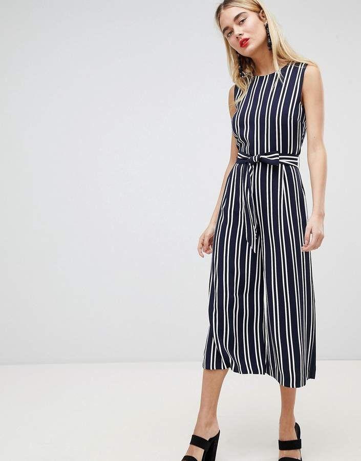 0485cc3168c Warehouse Stripe Culotte Jumpsuit