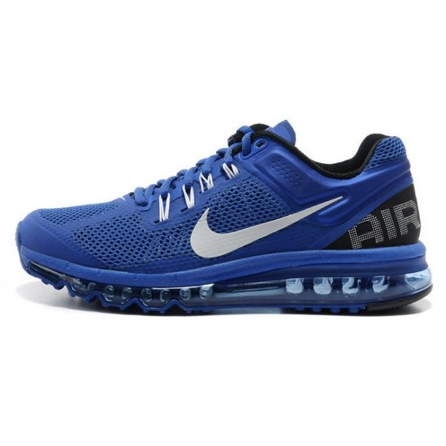 online store 4122f 017ef Nike Air Max 2013 Hyperfuse Mens Running Shoes Blue 554886 411