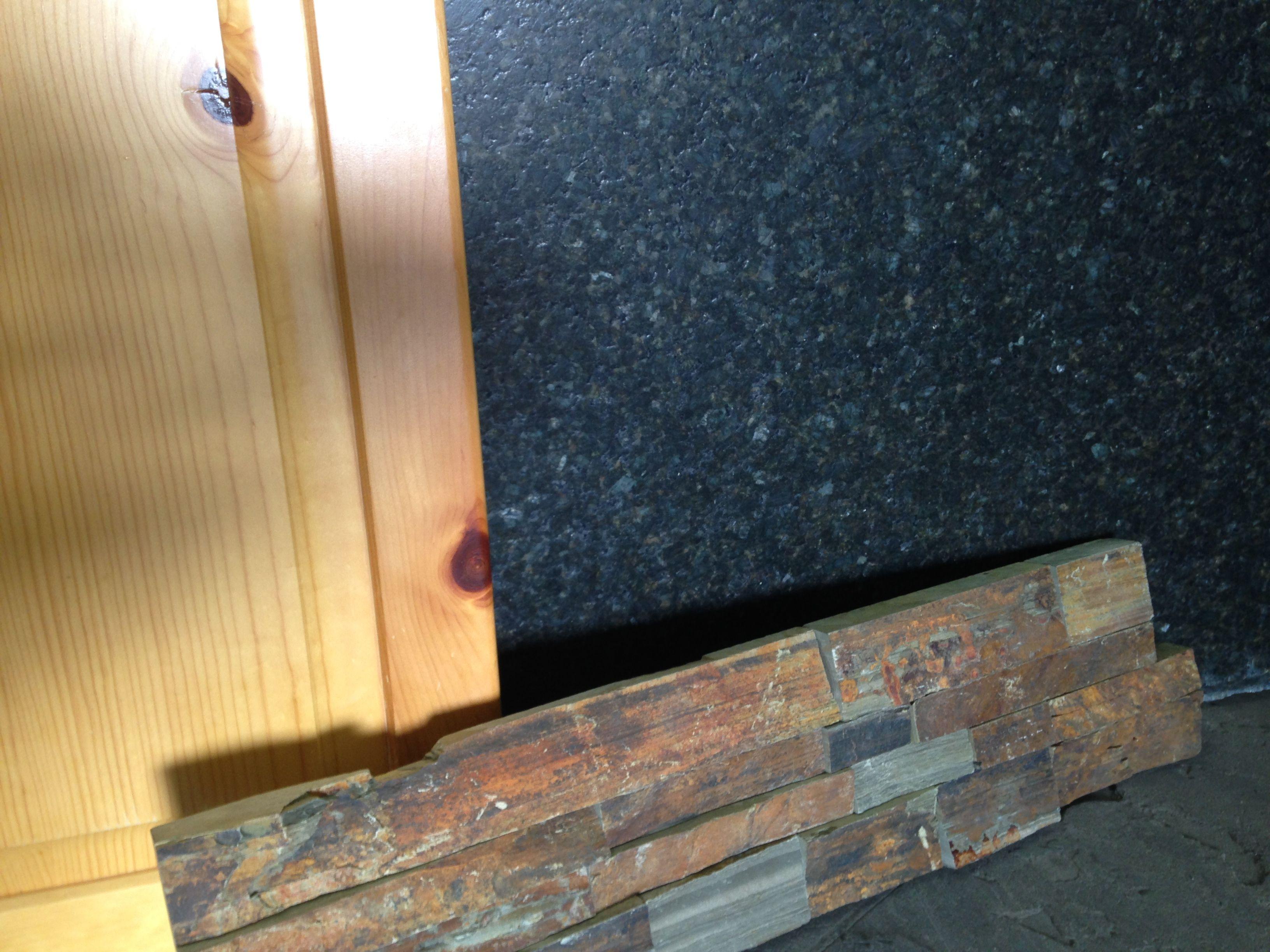 Our knotty pine cabinet, uba tuba leathered granite and earth ledge ...