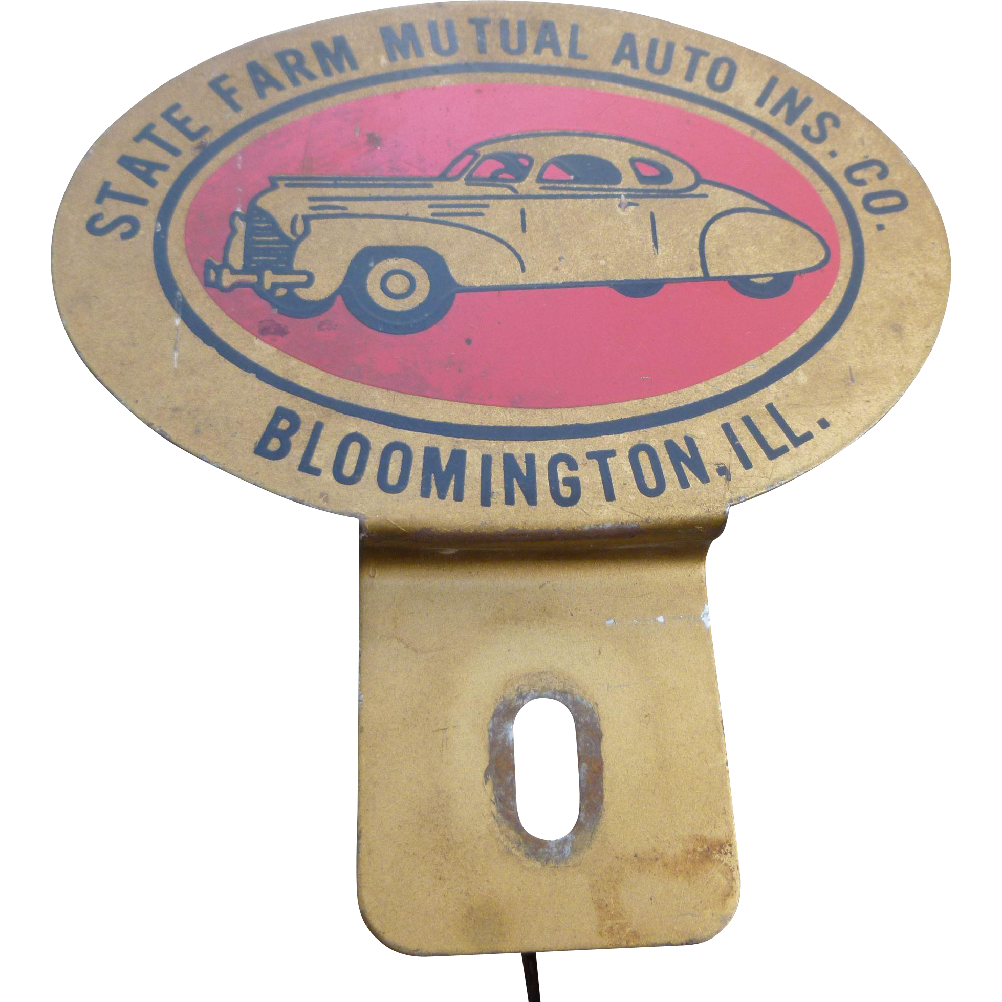 State Farm Insurance Advertising License Plate Topper in