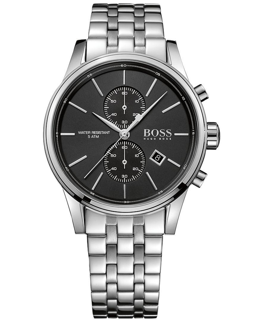 9b75059d79858 Boss Hugo Boss Men s Chronograph Jet Stainless Steel Bracelet Watch 41mm  1513383