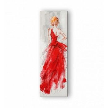 Toile femme robe rouge