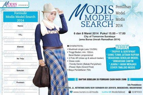 "AYO GUYS IKUT ACARA ""Modis Model Search"" presented by @ModisTabloid at City Of Tomorrow Surabaya DIJAMIN SERU !"
