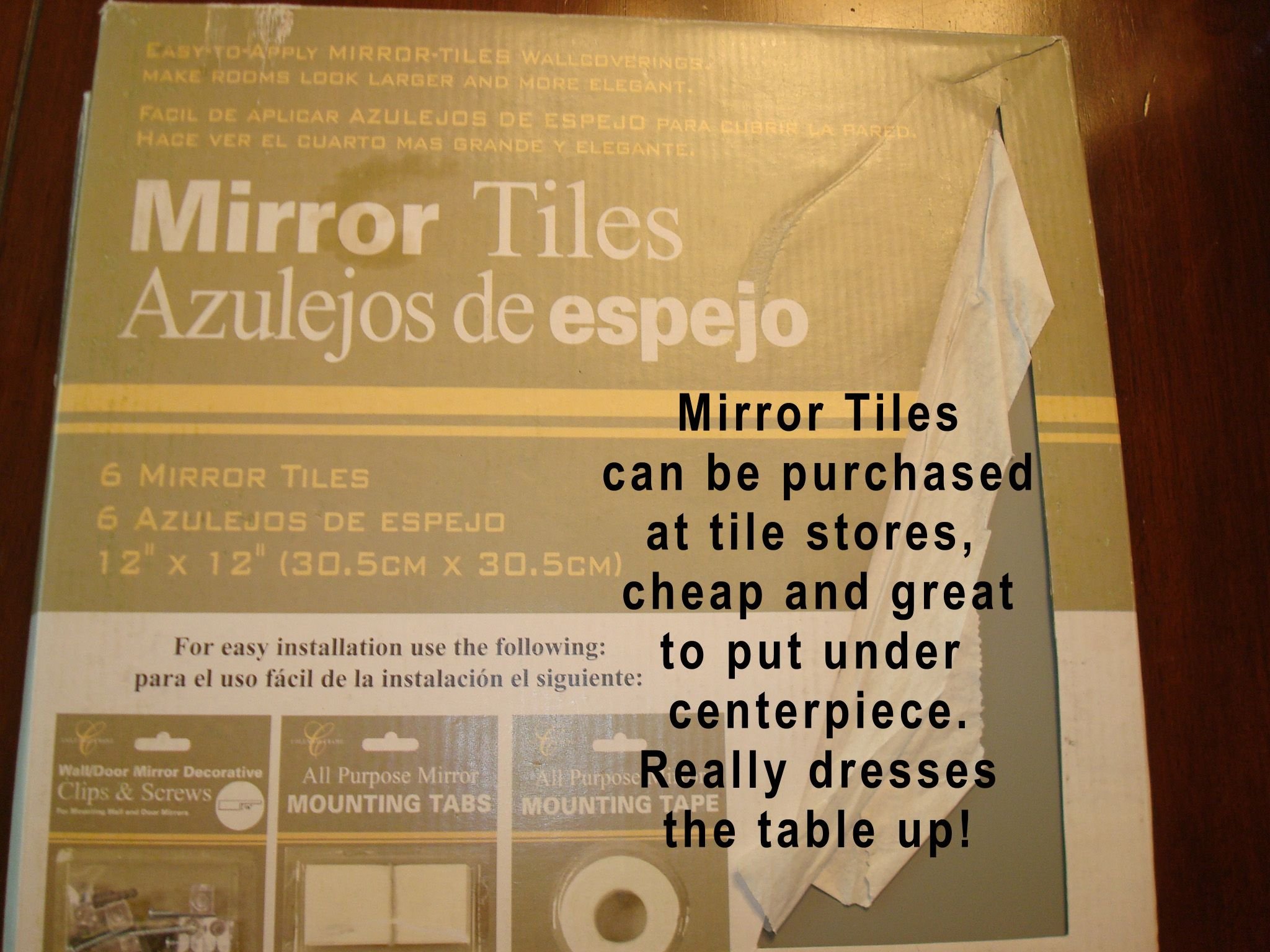 Dress up cheap mirror tiles