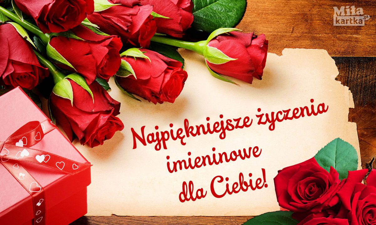 Najpiekniejsze Zyczenia Imieninowe Imieniny Nameday Name Swieto Zyczenia Kwiaty Roze Kartka Preze Happy Birthday Birthday Cute Wallpaper Backgrounds
