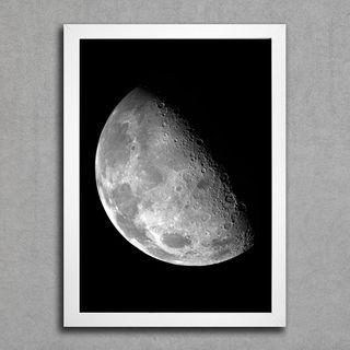 quadro branco e cinza-Lua-preço:29,00-encadreeposters.com.br