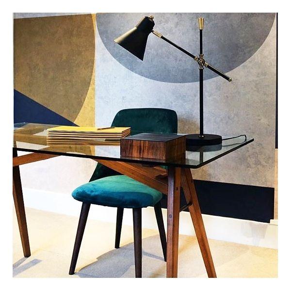 Photo of Primrose Dining Chair, Velvet Upholstered, Mustard