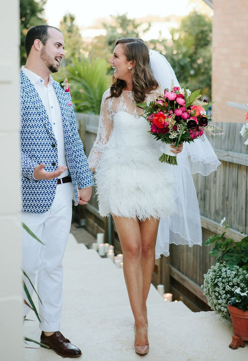 Best wedding dresses 2016 - short feather wedding dress | dresses ...