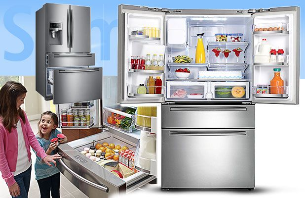 Samsung Rf4287 French Door Refrigerator Review Central Drawer Has A