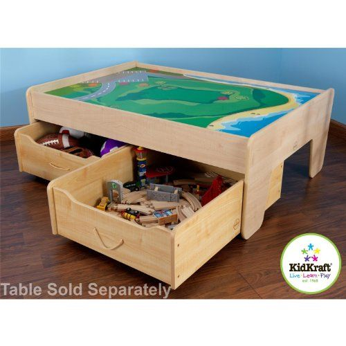 Train Table Trundle Drawer   Natural KidKraft Http://www.amazon.com