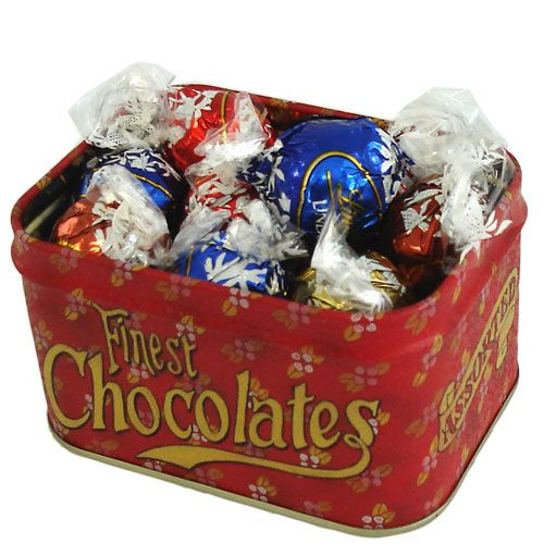 Assorted Lindt Truffles In Tin