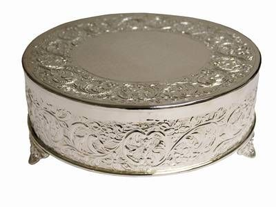 14 Silver Round Cake Plateau