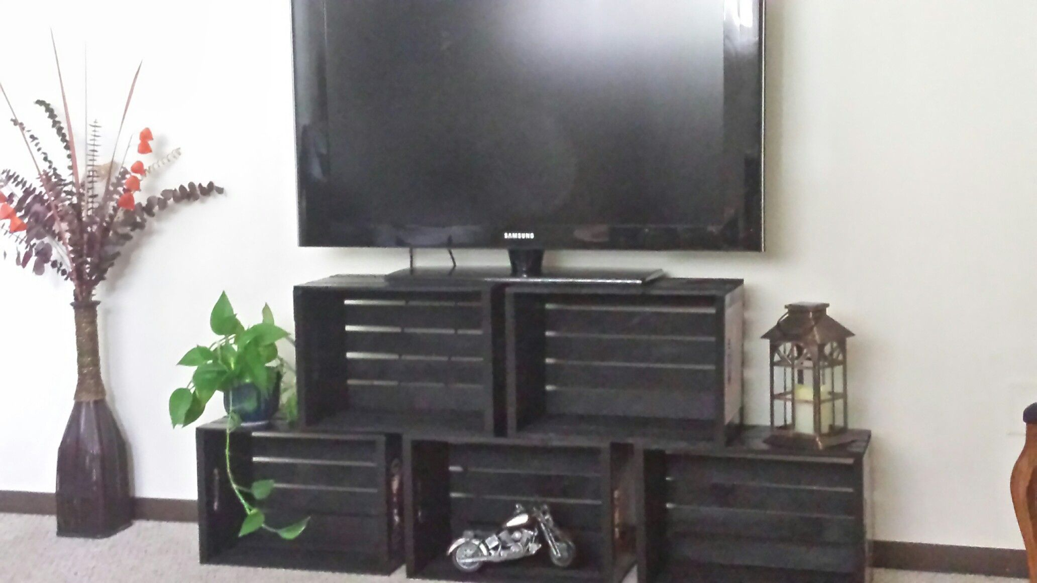 Meuble Tv Grange Apple Crate Tv Stand Done Perfect My Diy Pallet Tv