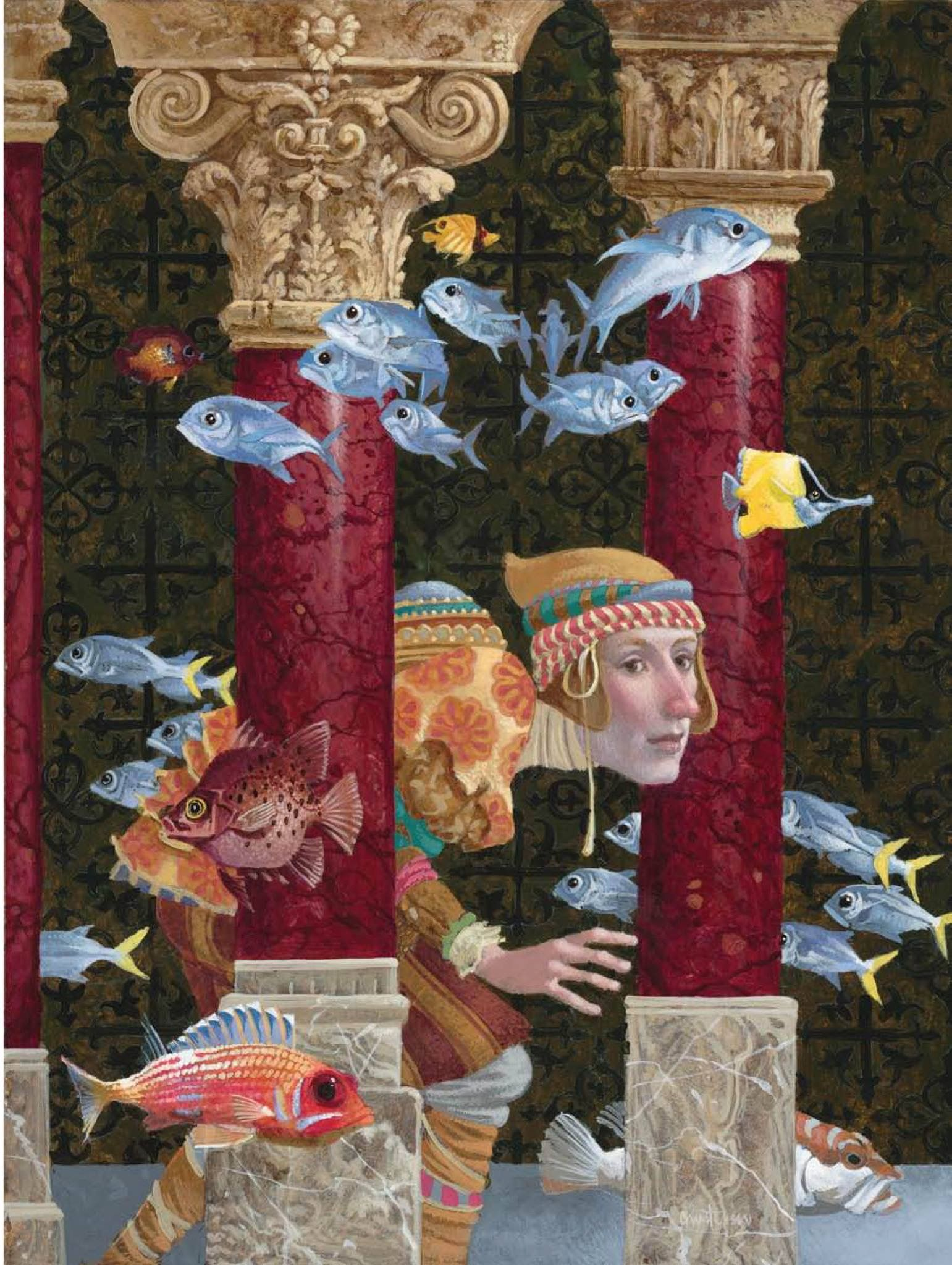 In The Palace Of Wisdom Art Whimsical Art Surreal Art