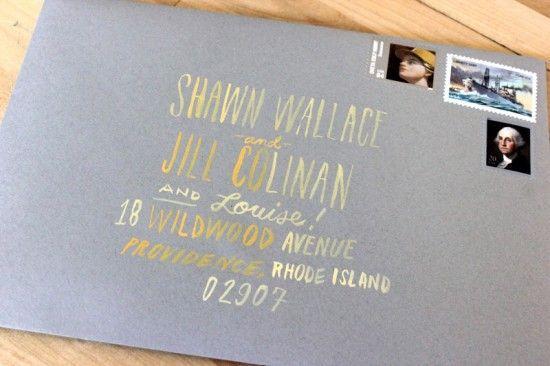 ArleyRose Morgans Neon Wedding Invitations Grey yellow