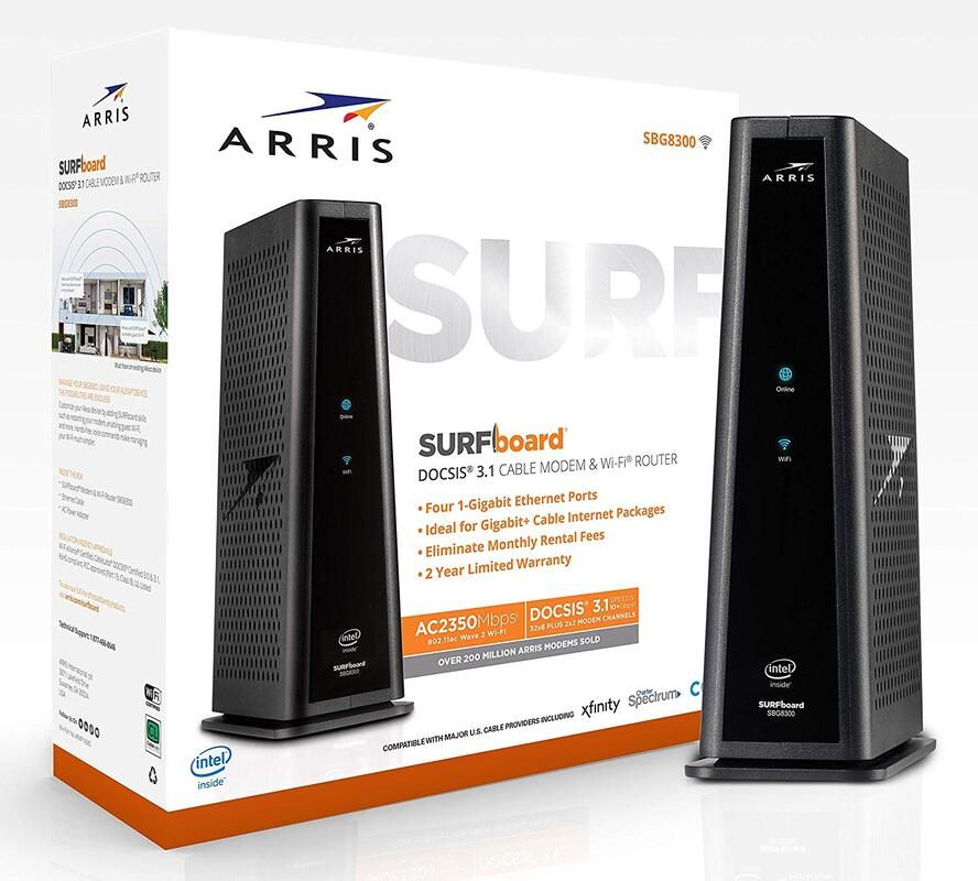 Arris SBG8300 DOCSIS 3.1 WiFi Cable Modem in 2020 Cable