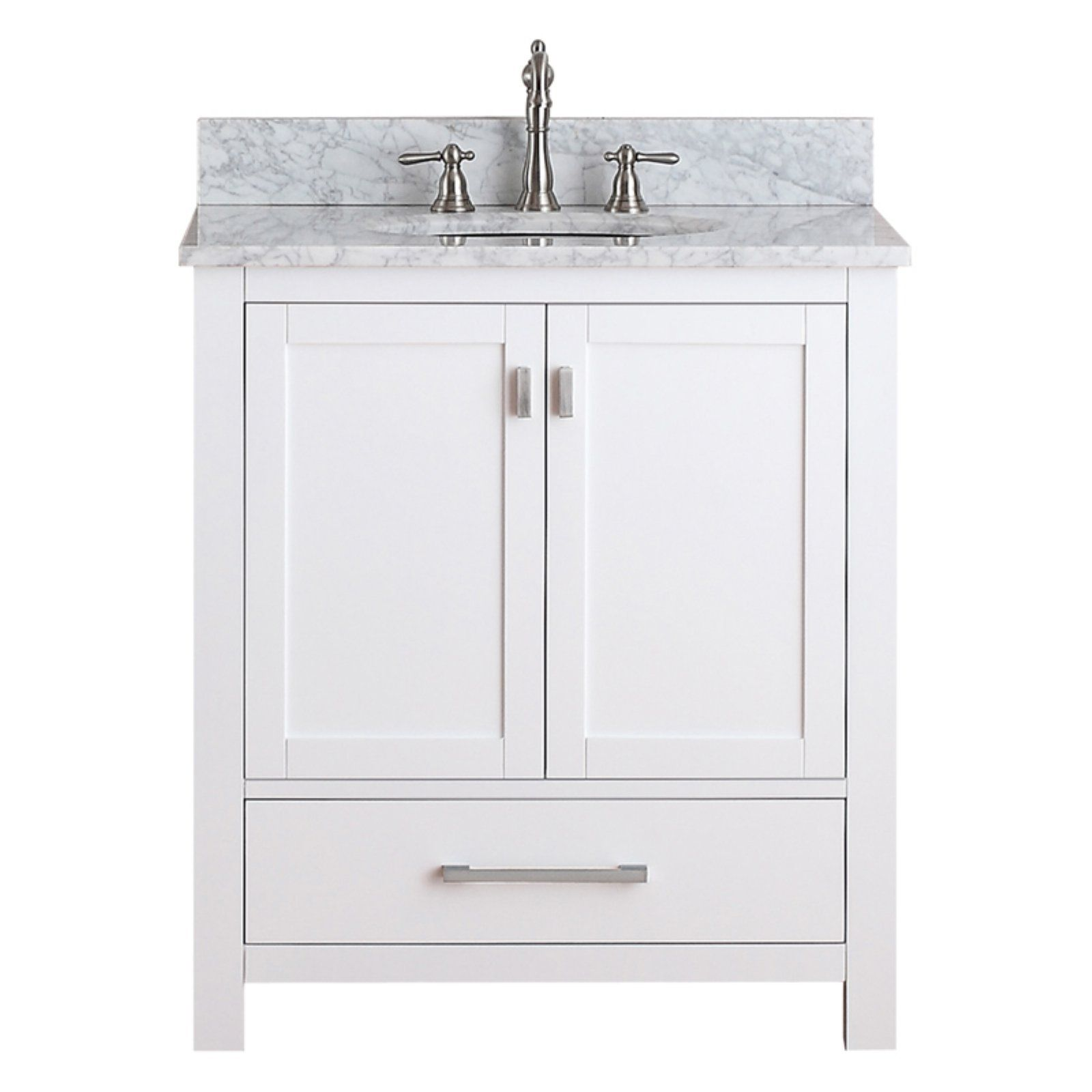 Avanity Modero Vs30 Wt Modero 30 In Single Bathroom Vanity Marble