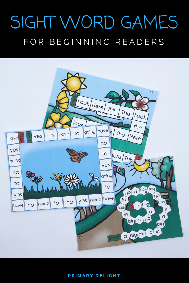 Sight Word Path Games for Kindergarten - Spring (Level A) | Word ...
