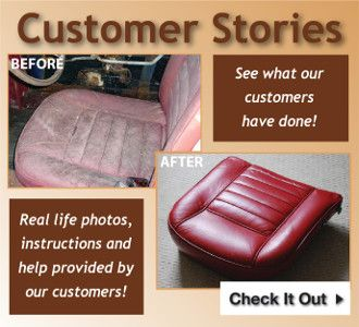 What leather restoring balm can do.