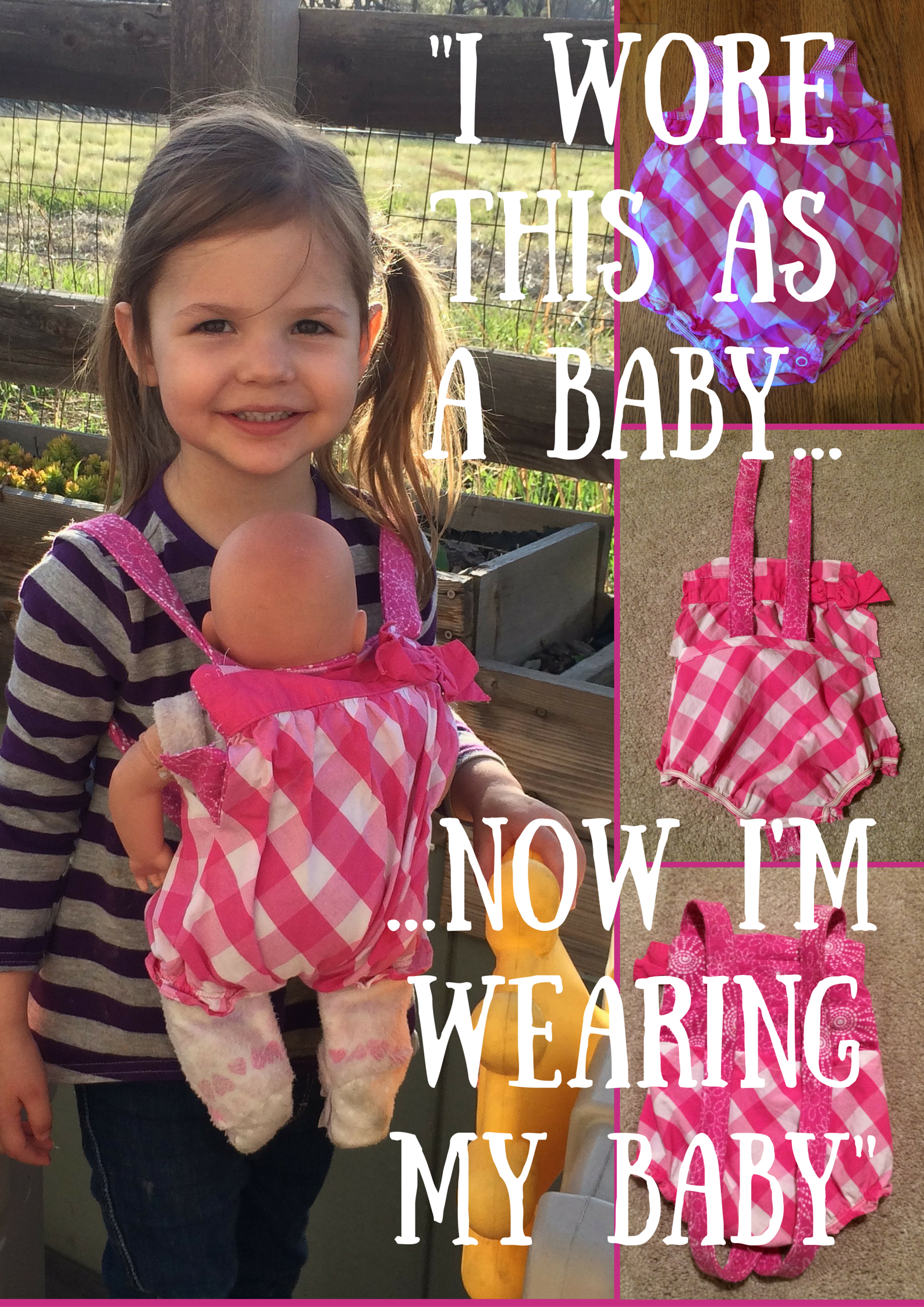 DIY Baby Doll Carrier Tutorial From Baby Jumper to Baby Carrier