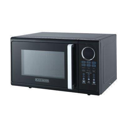 Black Decker Pull Handle 19 0 9 Cu Ft Countertop Microwave