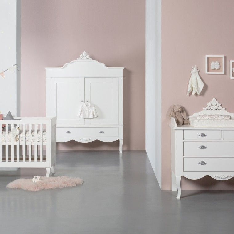 Babykamer Bateau Wit.Kidsmill Romance Babykamer Wit Bed 60 X 120 Cm Commode Kast 2