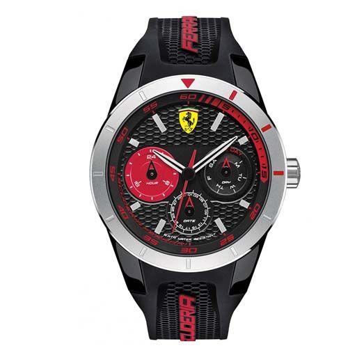 bb68eb0c8e1 Relógio Scuderia Ferrari Masculino Borracha Preta - 830254