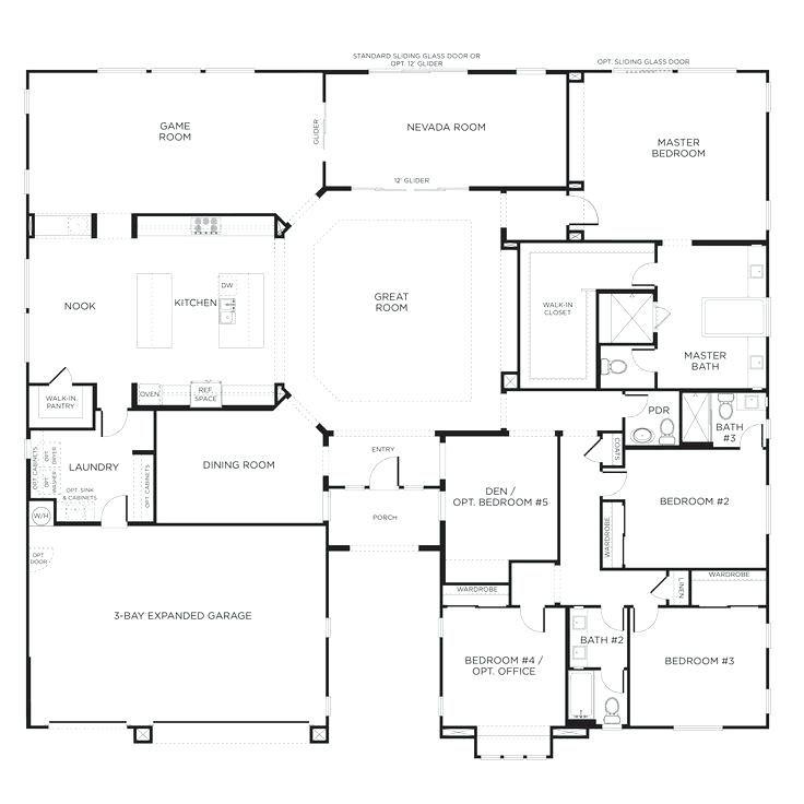 Single Story Floor Plan 5 Bedroom House Plans Single Story House Floor Plans Barndominium Floor Plans