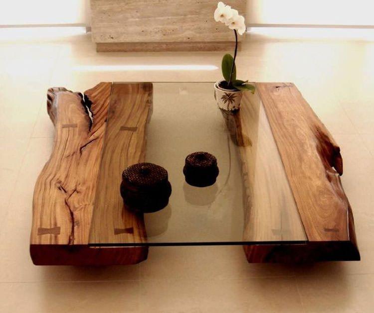 15 Tavoli in Legno Naturale Molto Originali | Progetti da provare
