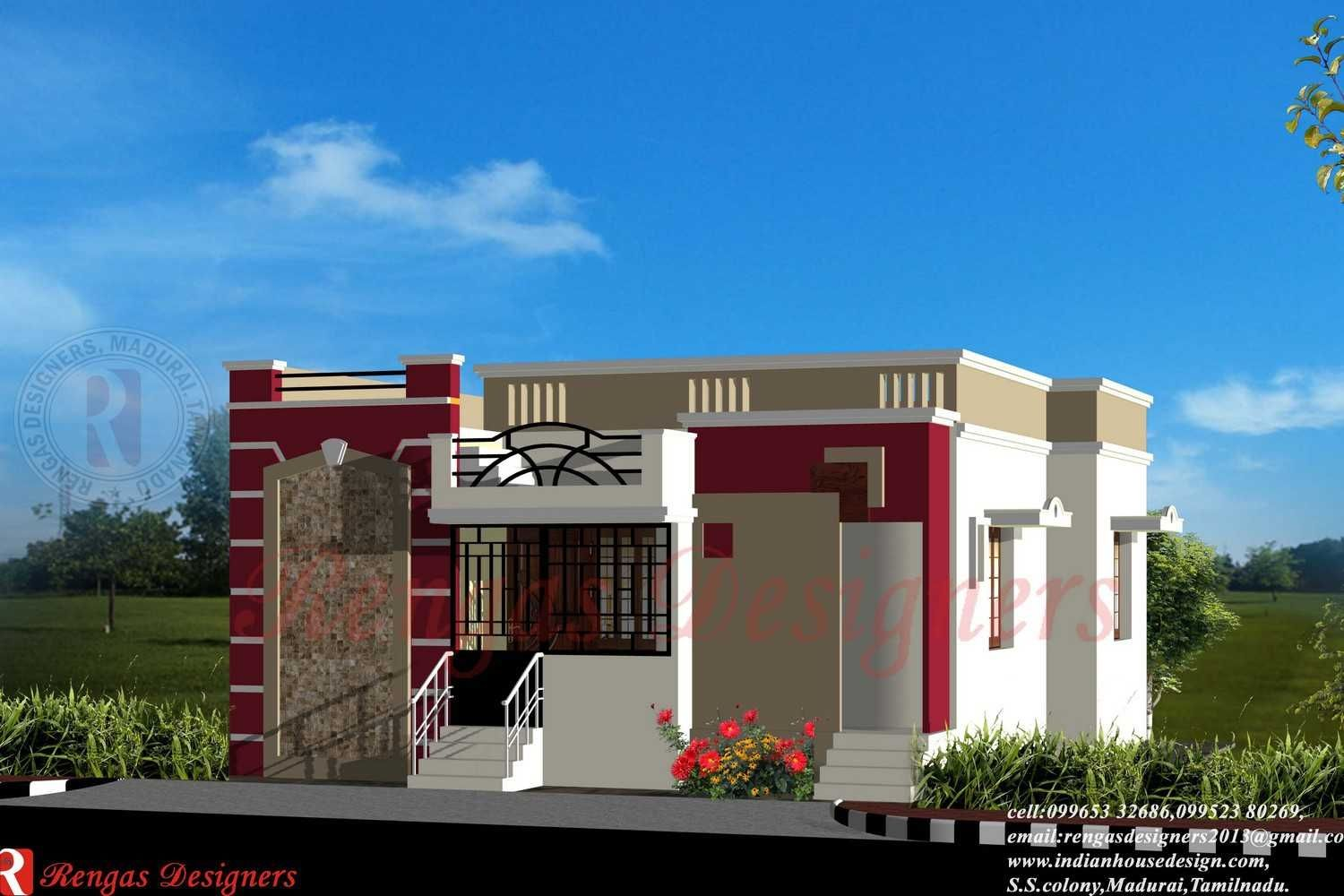 Front Elevation Design Of House Pictures In India Part - 38: Front Elevations Of Small Houses India