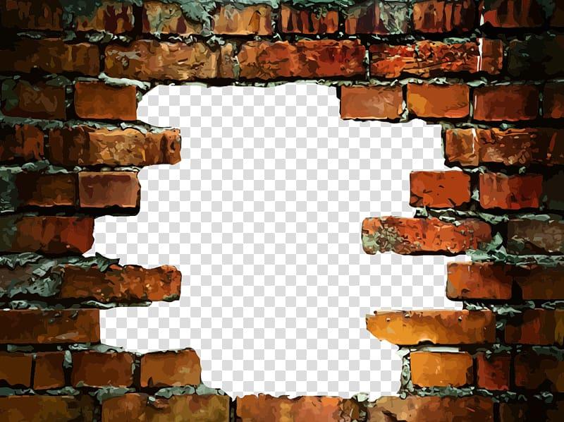 Brown Brick Border Illustration Stone Wall Brick Wall Decal Hole In A Brick Wall Transparent Background Png Clipa Brick Wall Drawing Brick Wall Vintage Clock
