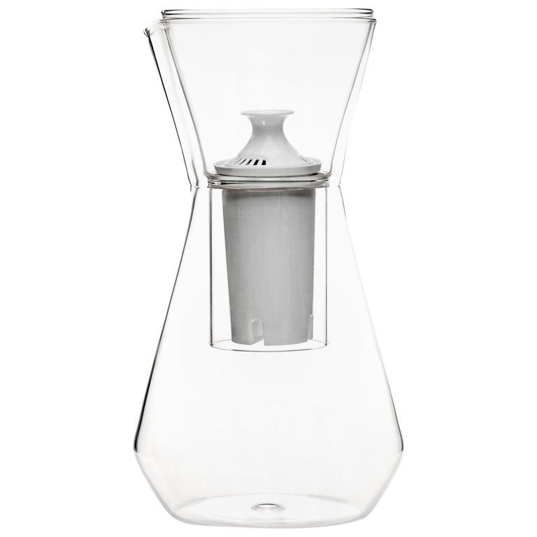 Contemporary Czech Minimal Talise Glass Water Filter Carafe