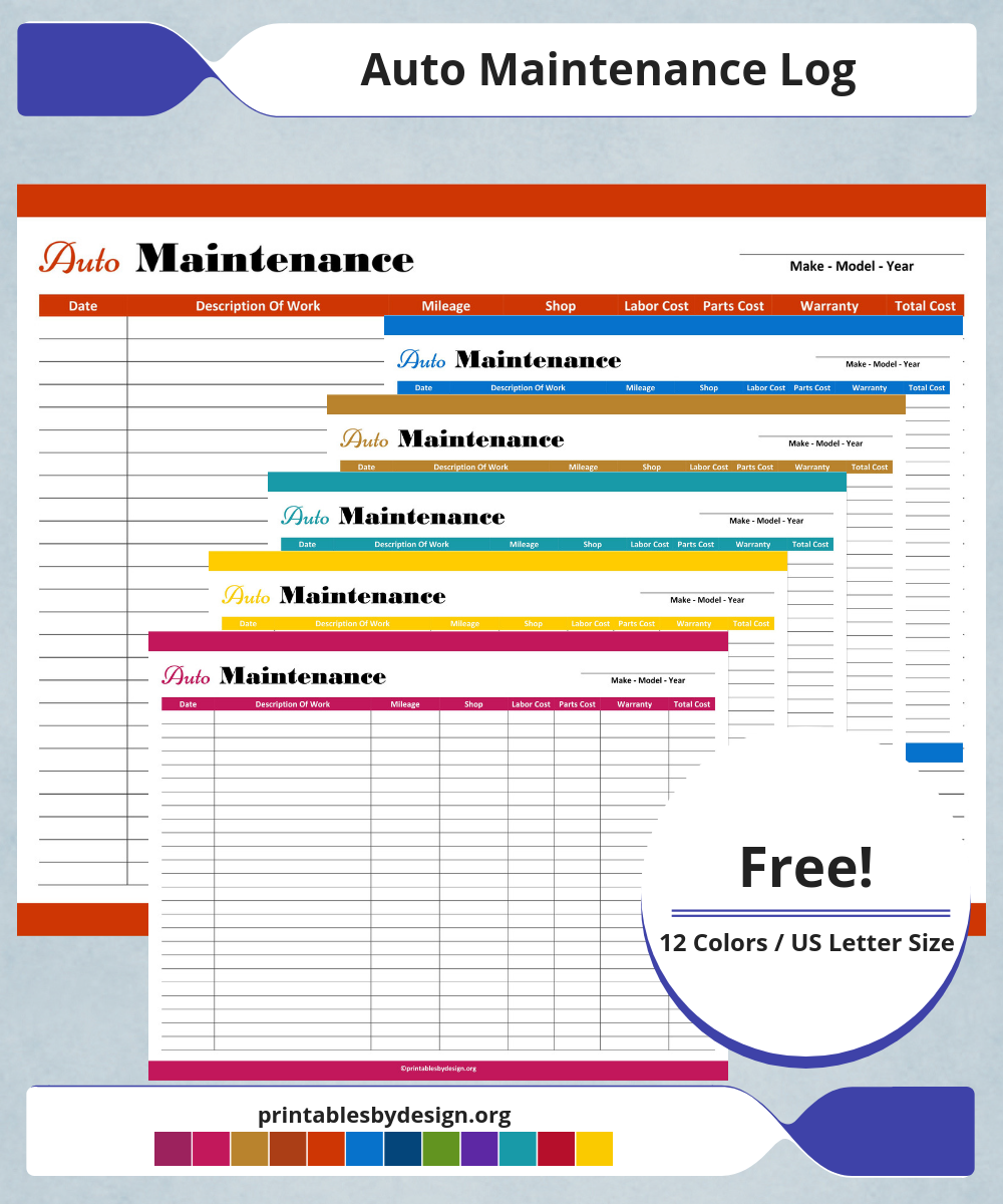 Auto Maintenance Log