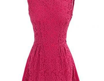 New Round Neck Sleeve Lace Dress Fo..