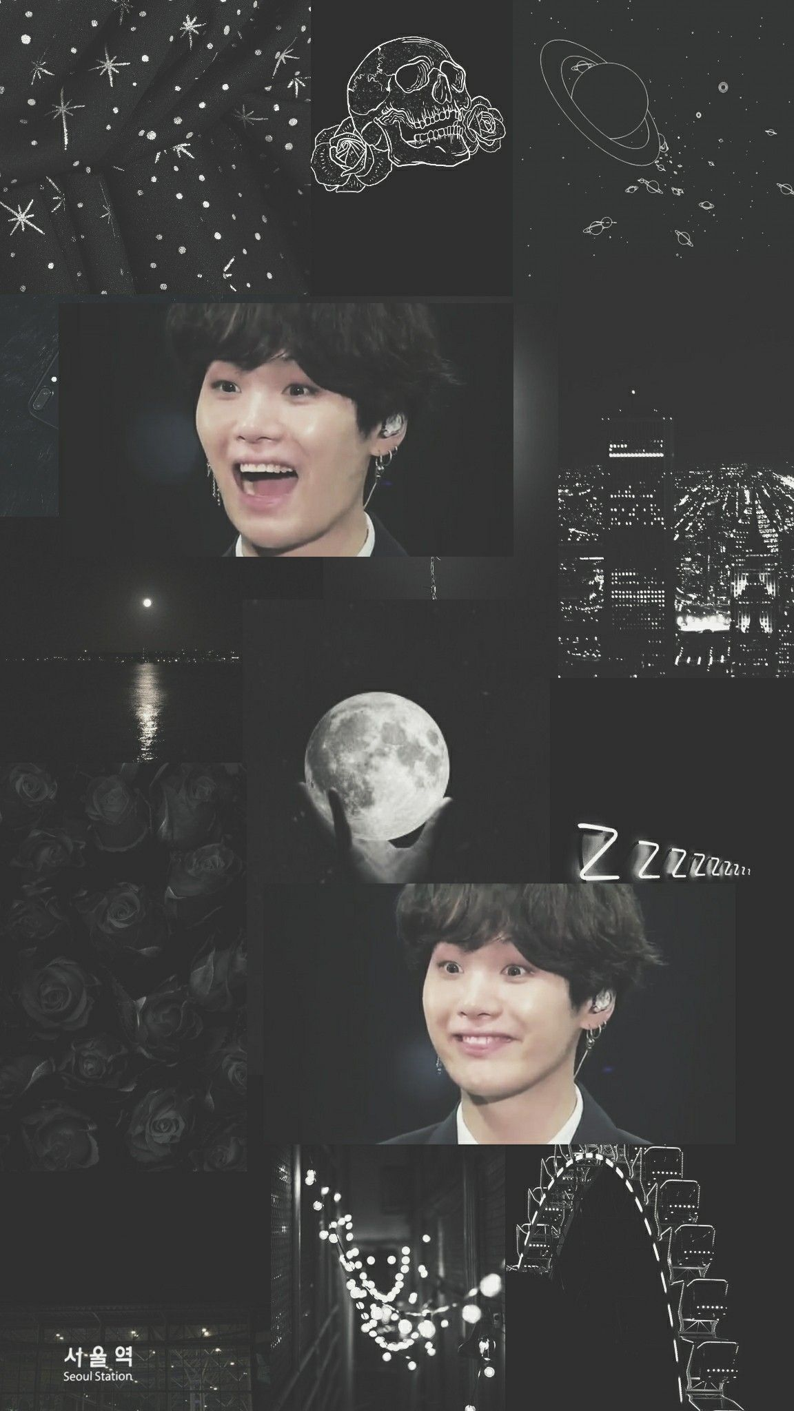 Yoongi Blue Aesthetic Wallpaper Credits To Twitter Rainboweditsz Yoongi Suga Wallpaper Iphone Wallpaper Lucu Fotografi Malam