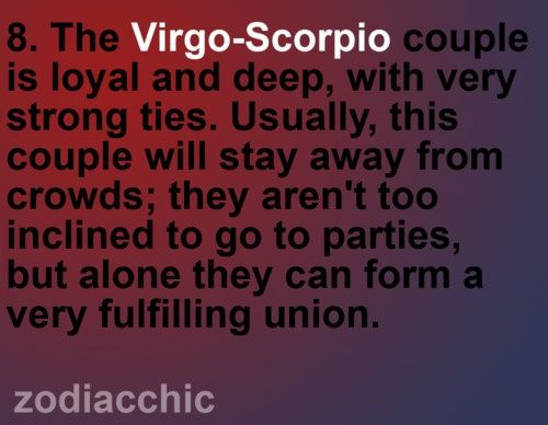Virgo man pulls away from scorpio woman