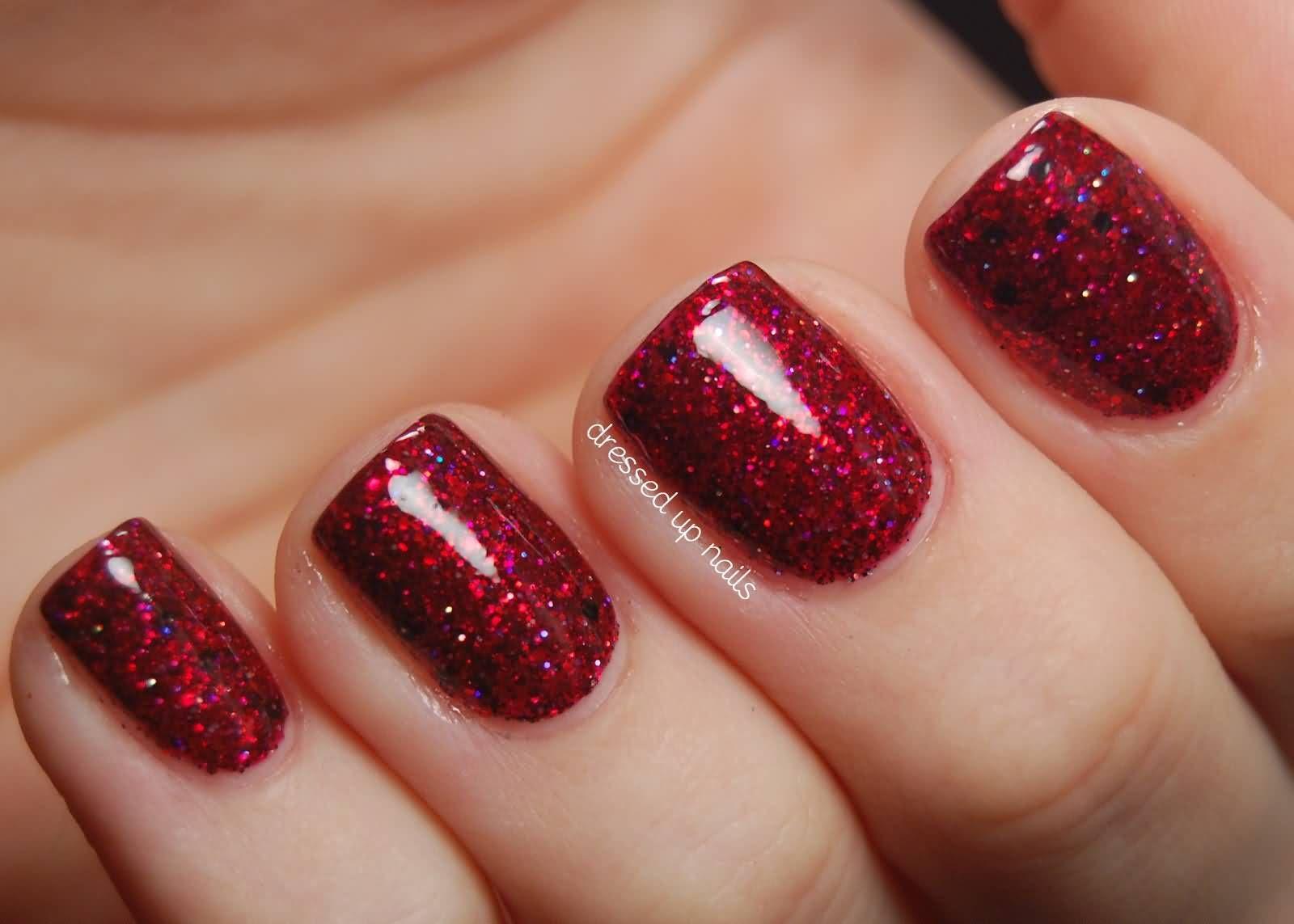 Simple-Maroon-Glitter-Nail-Ideas.jpg 1,600×1,143 pixels | Nails ...