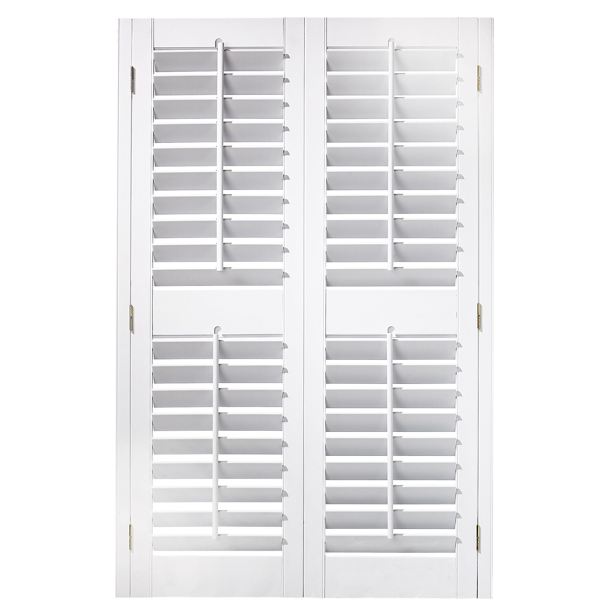 High Quality White+Shutters | 35~37 In X 54 In Plantation Faux Wood Interior Shutter
