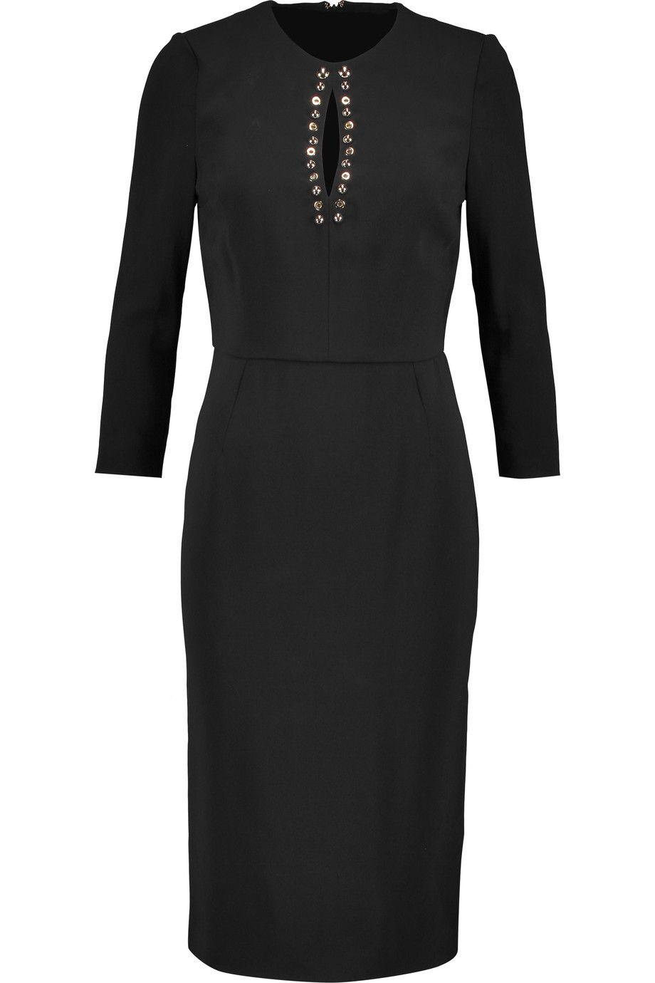 JUST CAVALLI Embellished crepe midi dress. #justcavalli #cloth #dress
