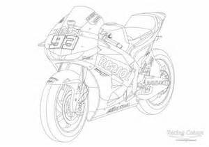 Marc Marquez Coloriage Moto Coloriage