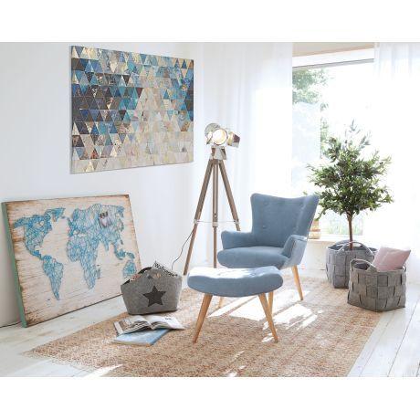 Sessel Mit Hocker Odia Scandinavian Design Sessel Mit Hocker