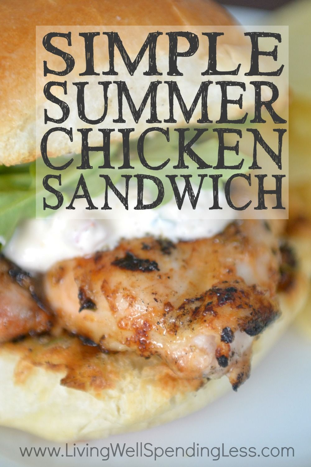 Looking+for+an+easy+summertime+meal+that+comes+together+in+no-time+flat?++This+simple+summer+chicken+sandwich+whips+up+in+minutes,+then+can+be+frozen+ahead+for+an+effortless+weeknight+meal.++Packed+with+flavor,+it+is+definitely+one+your+family+will+ask+for+again+and+again!++