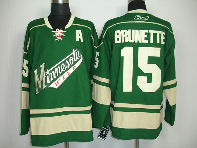the latest d016e e1e57 minnesota wild andrew brunette 15 green authentic jersey sale
