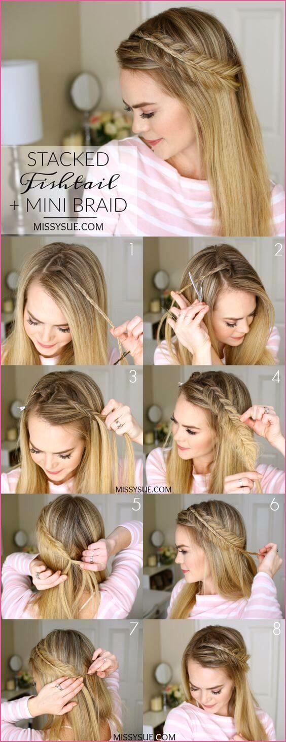 genial Schnelle Hochsteckfrisur Mittellange Haare