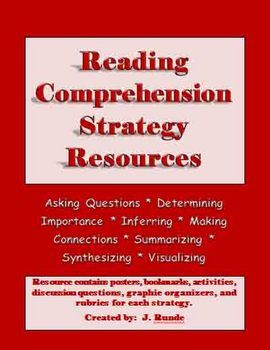 This 183 page resource contains everything you need to support your students' learning of the reading comprehension strategies....