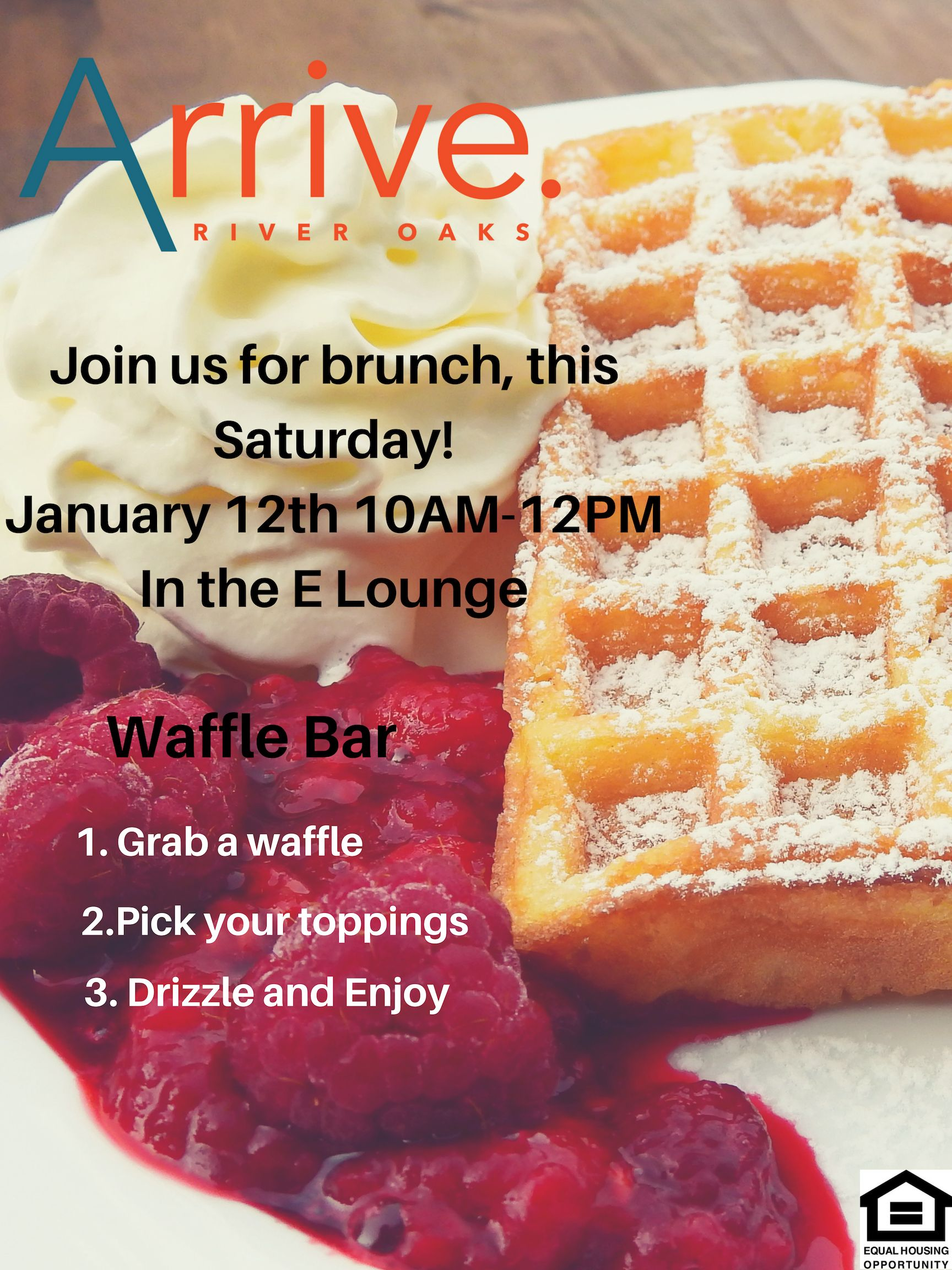 Join us for a Waffle Bar Brunch this Saturday! Stop by