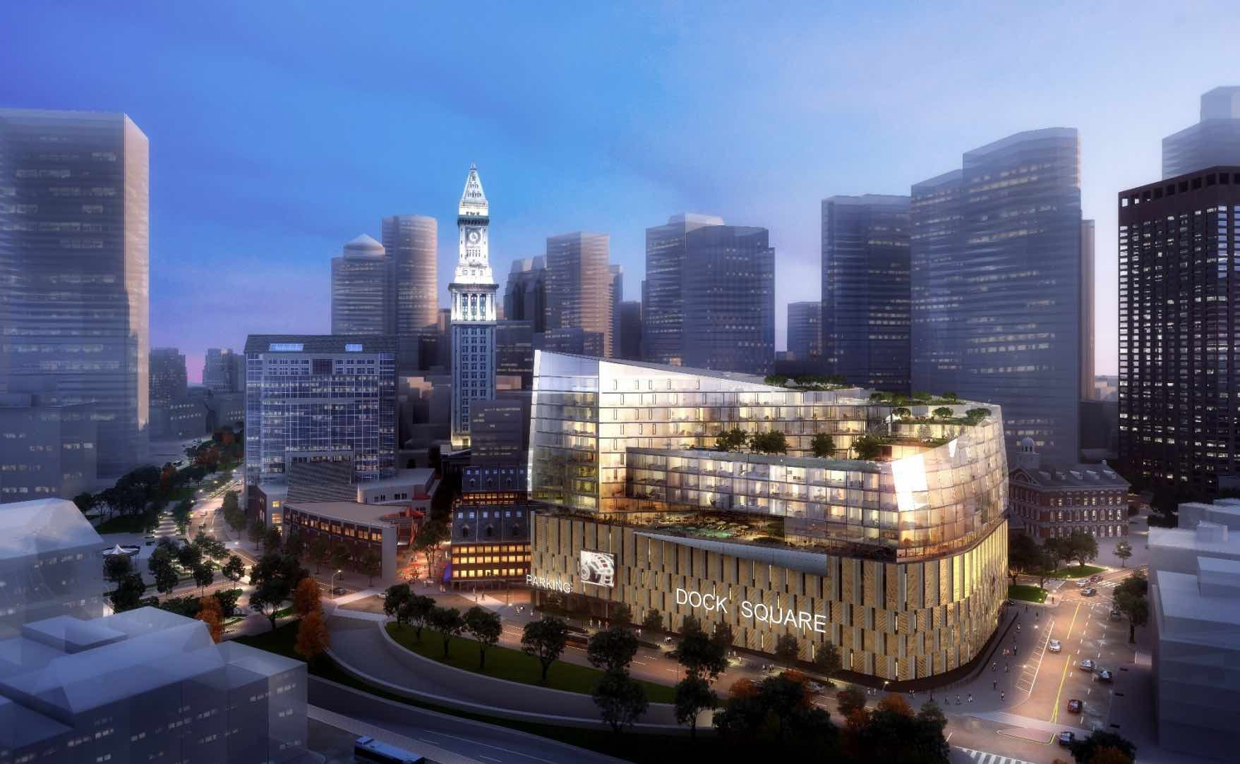 This Page Outlines The Expansion Details Of The Dock Square Parking Garage Dock Square Parking Garage Boston Real Estate Glass Facades Garage Interior